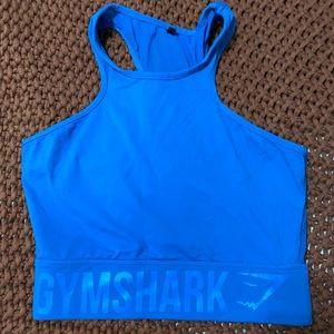 Blue gymshark sports bra / crop top